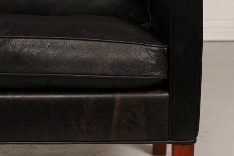 Børge Mogensen Sofa 2208  Original sort læder, Børge