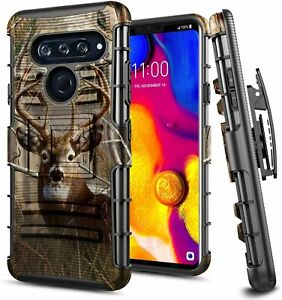For-LG-V40-ThinQ-Case-Armor-Phone-Belt-Clip-Holster-Kickstand-Phone-Cover