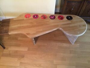 guitar coffee table beech hand made bespoke wood unique fender