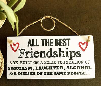 Segno Di Amicizia Migliore Amico Targa Grazie Regalo Shabby Chic Cuore-