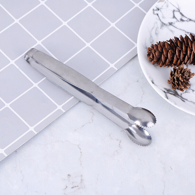 Baking Stainless Steel Clip For Ice Appetizer Coffee Salad Sugar Cube Tongs 6T