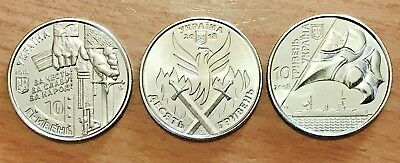 """Bank ROLL 25 coins New x 10 HRYVEN 2018 /""""Ukrainian Volunteer Day/"""" UKRAINE"""