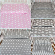 2 pcs Nursery Baby BEDDING SET/PILLOWCASE/DUVET COVER 4 Cot/Cot Bed