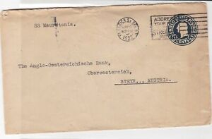 united states 1922  stamps cover ref 20386