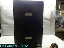 No Wheels Plastic 2 Drawer File Cabinet Letterlegal Black 61309u01c
