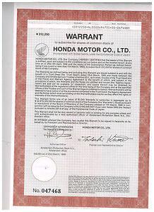 Honda-Motor-Co-Ltd-1989-warrant