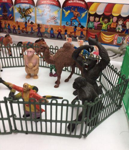 NEW 60 PCS CIRCUS SET PLAY SET KIDS CLOWNS CARNIVAL ACTION FIGURES TOYS ANIMAL 1