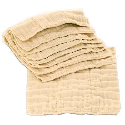 OsoCozy 6 Pack Prefolds Unbleached Cloth Diapers, Size 1 , New, Free Shipping