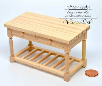 1 12 Dollhouse Miniature Working Table, 1 12 Unfinished Dollhouse Furniture