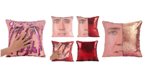 NICHOLAS-CAGE-Reversible-Cushion-Cover-Deluxe-Sequined-Retro-Meme-40cm-Gift