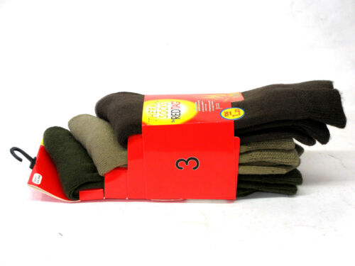 MENS REDTAG THICK THERMAL WINTER SOCKS 3 IN A PACK 1.20 TOG  40B196//40B197