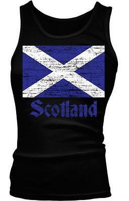 Scotland Flag Text Alba Independence Scottish Gaelic Pride Boy Beater Tank Top
