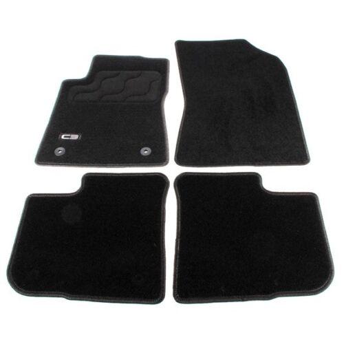 Original Fußmatten Fussmatten Citroen C3 III Bj.07.16- schwarz 4-tlg wellen
