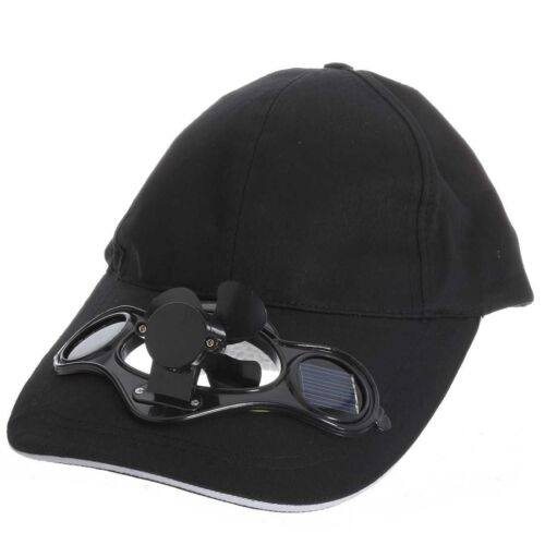 Rot Solar Luft Fan Baseball Ventilator Muetze fuer Camping Reisen DE
