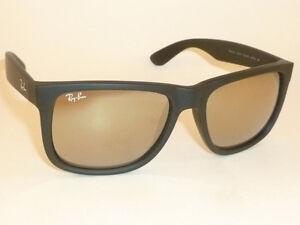 de26d75c44105 New RAY BAN Justin Sunglasse Matte Black Rubber RB 4165 622 5A Gold ...