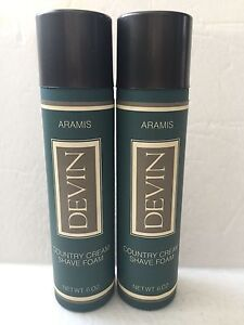 Armies-Devin-Men-039-s-Country-Cream-Shave-Foam-2-X-6-0oz-Hard-To-Find-2-Count-NEW
