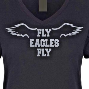 the latest 03ea7 546c7 Details about Womens Fly Eagles Fly Shirt ladies philadelphia eagles  tshirts plus sizes