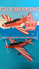 P-51D Mustang Diecast Money Bank Red Crown Gasoline SpecCast