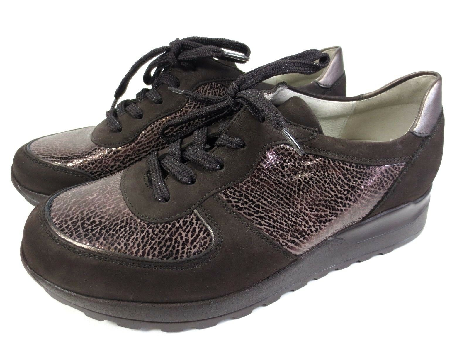 Rôdeur Hiroko confort cuir chaussures basses marron Taille 37,5 UK 4,5 H 342