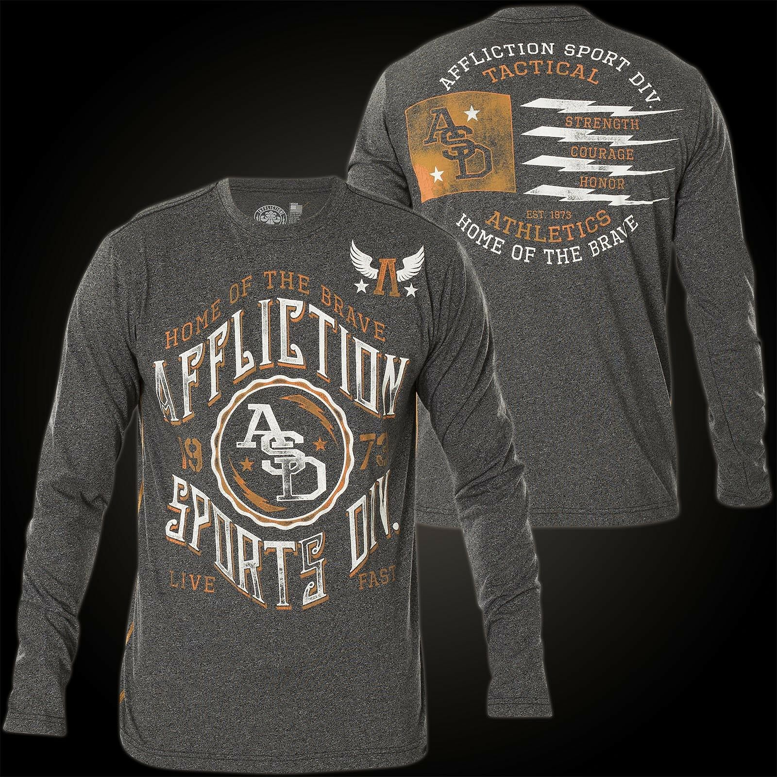 Affliction Pullover Home of BRAVE FLAG Grigio Felpe