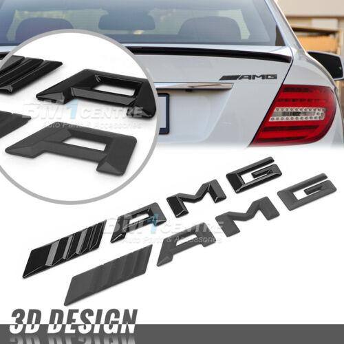 BLACK 3D NEW AMG REAR BOOT TRUNK LETTER EMBLEM BADGE FOR MERCEDES BENZ 2014 on