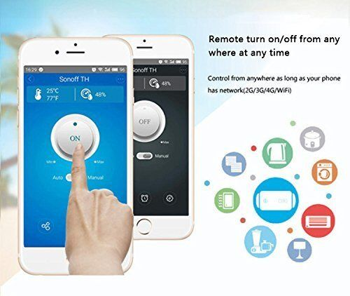 Sonoff TH16+AM2301 Temperature Humidity Monitoring WiFi Smart Switch Smart Home