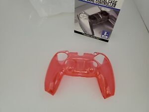 NEW Clear Crystal Red Shell Case Hard Cover Protector For PS5  Controller Z17