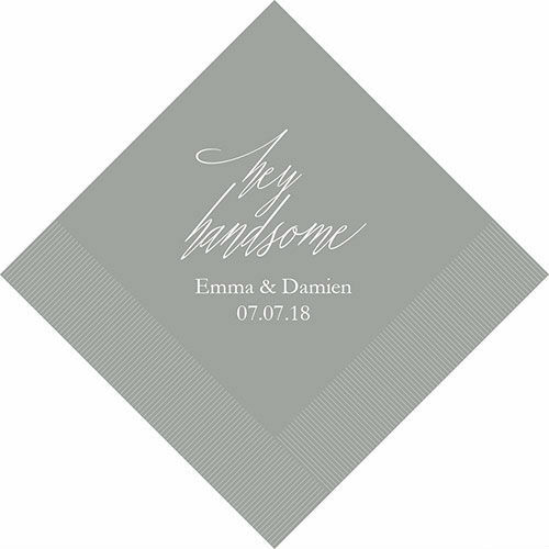 300 Hey Handsome Personalized Wedding Luncheon Napkins