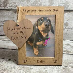 Personalised Home is Where the Dog is Oak Wood Veneer Frame 6x4  Gift Idea