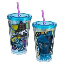 DOCTOR WHO 18 oz. Acrylic Travel Cup - VANDOR #16014 - FREE FAST SHIPPING in USA