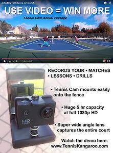 Tennis Cam Barrière Mont Caméra Vidéo-afficher Le Titre D'origine