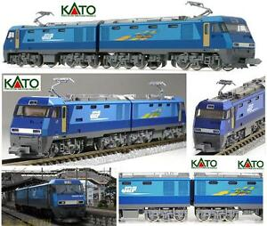 Kato Locomotive Électrique Jr Bleu Thunder Eh200 À Double Corps Ovp 3045