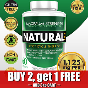Natural PCT Post Cycle Therapy Estrogen Blocker Testosterone Booster 1125mg
