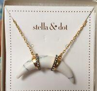 Stella & Dot Arc Pendant Necklace In Box
