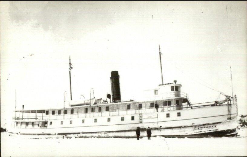 Maine Steamer Steamship MONHEGAN 1950s-60s Real Photo Postcard #2