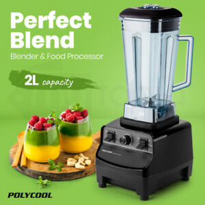 【EXTRA10%OFF】POLYCOOL 2L Commercial Blender Mixer Food Processor Smoothie