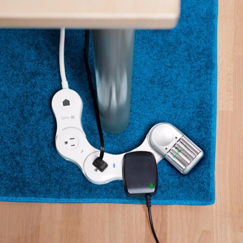 Quirky PPVG-WH01 Pivot Power Genius Strip 4 Outlet Surge Protector Wifi Mobile