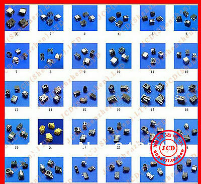 60 Kinds Lot Universal DC Power Jack Socket For Laptop Tablet Panel total 60pcs