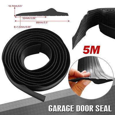 16 Feet Universal Garage Door Threshold Rubber Seal Weather Stripping 1//2 inch