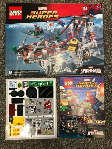 Lego NEW Instructions Sticker Set Manuals Comic ONLY for set 76057