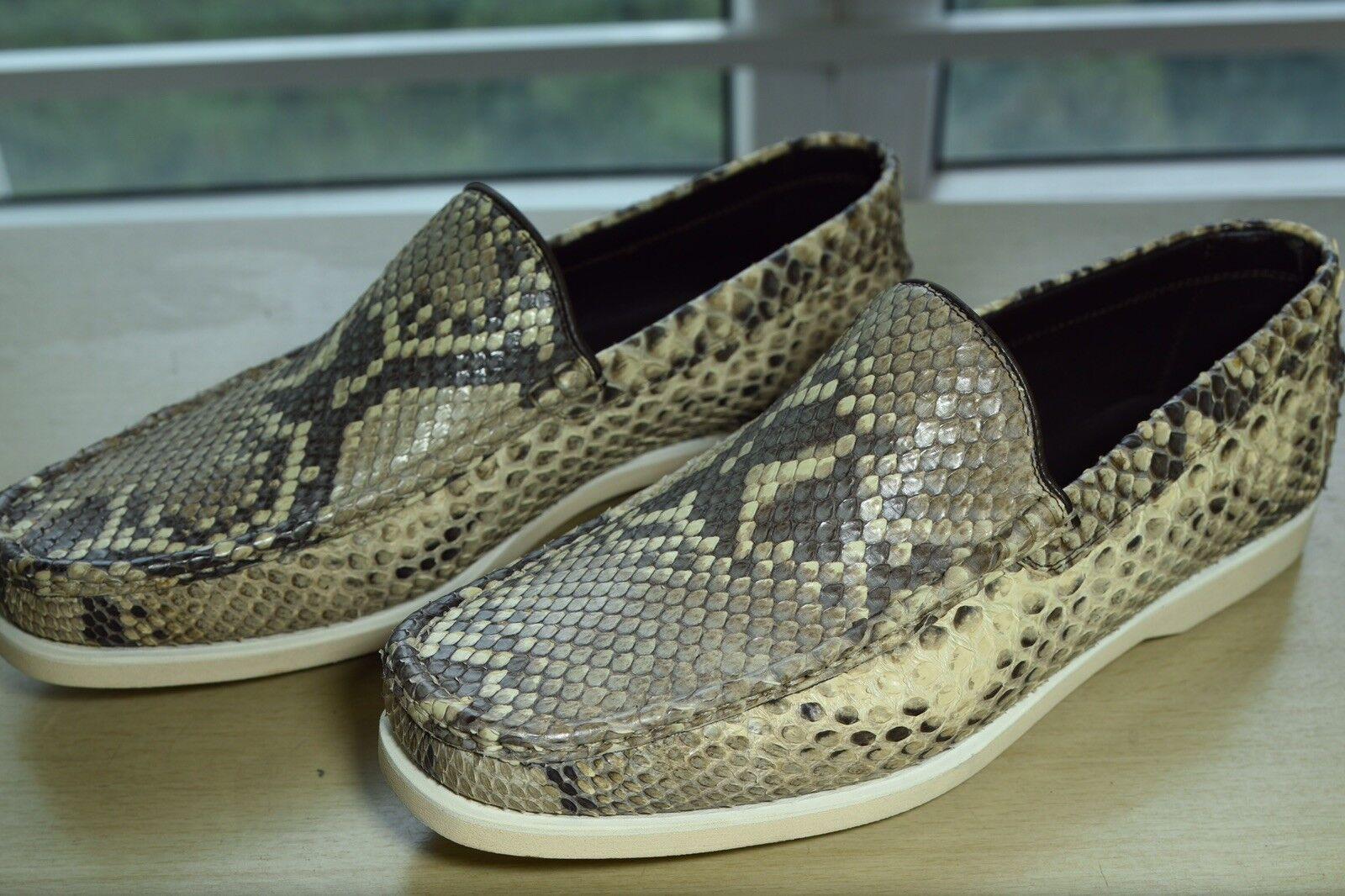 NIB KITON Snake skin loafer 7