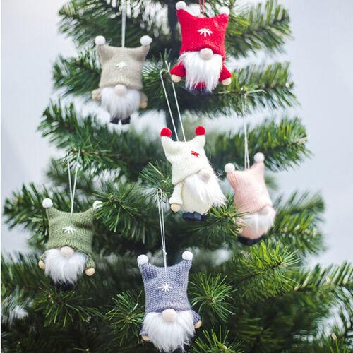 Santa Claus Wool Felt Pendants Christmas Tree Ornaments Xmas Decor Kids Gift HC
