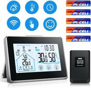 Station-Meteo-Interieure-Exterieure-Thermometre-Hygrometre-sans-Fil-Capteur
