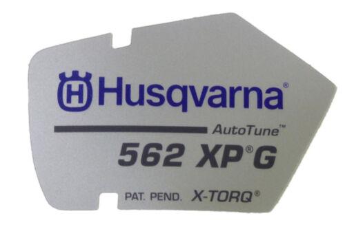 Tipos de griffheizungs escudo pegatinas Starter tapa motosierra Husqvarna 562 xpg