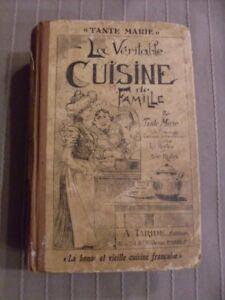 Details Sur Livre De Cuisine Ancien Tante Marie A Taride 1935