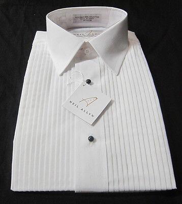 Size XL-36-37 Men/'s Lay-Down Collar Tuxedo Shirt