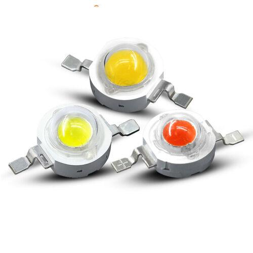 3W 5W Watt High Power LED 45MIL White UV Red Blue Green Lamp Bulb light DIY