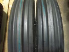 TWO 500X15,500-15,5.00X15,5.00-15 RW JOHN DEERE 3 Rib Tractor Tires 6 PR w/Tubes