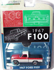 Greenlight 1967 Ford F100 Pick Up Truck with Bed Cover Red/White 1:64 29862