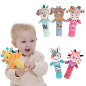 Kids-Baby-Animals-Musical-Developmental-Toys-Bed-Bells-Hand-Soft-Toys-Rattl-US